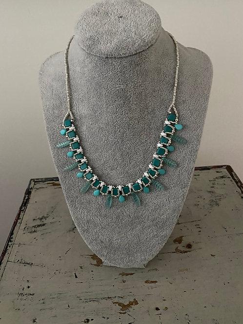 Petunia Necklace Kit Turquoise