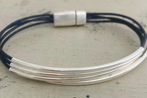 Classic Leather Bracelet Kit NAVY