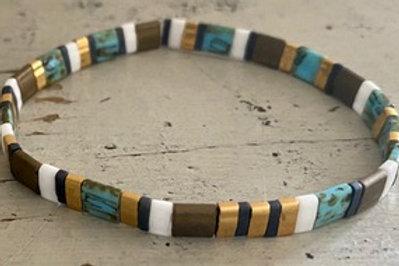 Tila Bracelet Kit Brown Turquoise
