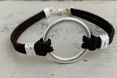 Endless Ring Microsuede Bracelet Kit Dk Brown