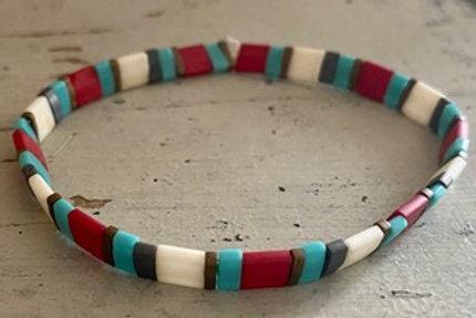 Tila Bracelet Kit Red Turquoise
