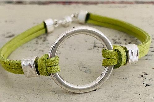 Endless Ring Microsuede Bracelet Kit Apple Green