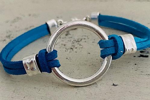 Endless Ring Microsuede Bracelet Kit Turquoise