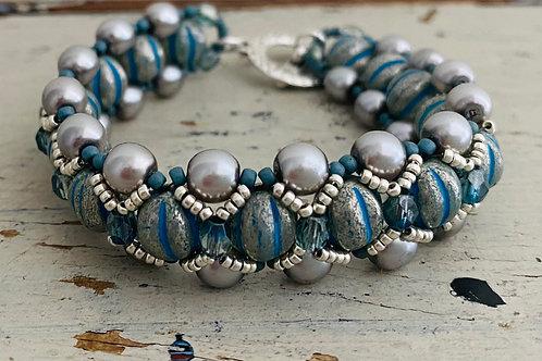 Chunky Melon Bracelet Kit Blue