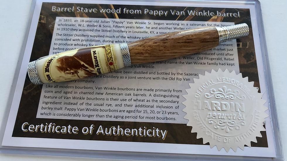 Pappy Van Winkle Barrel Stave Pen