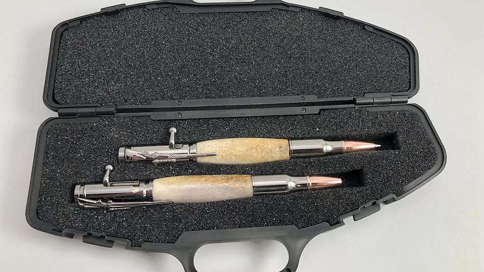Deer Antler Pen and Pencil Set