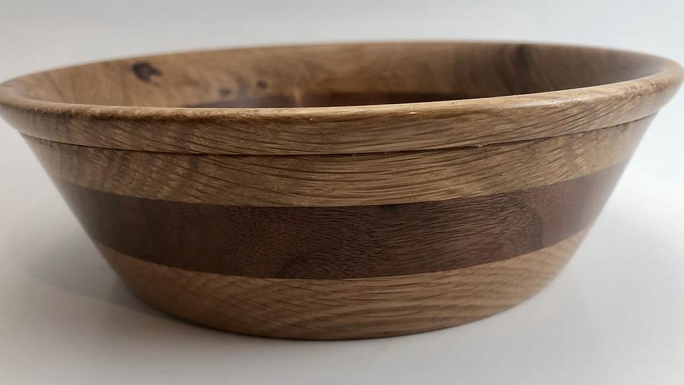 White oak and Walnut bowl.