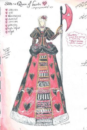 Queen of Hearts Design Illustration