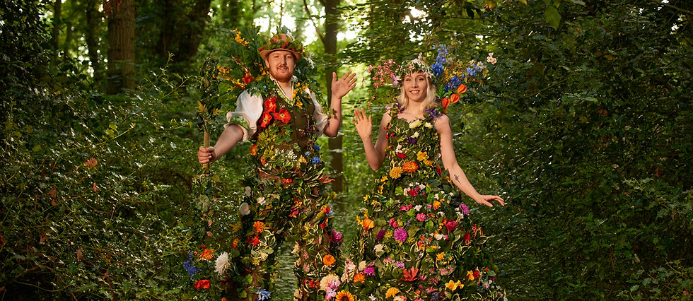 Mr & Mrs Flora the Flower Stilt Walkers