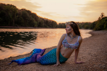 Sunset and a Mermaid