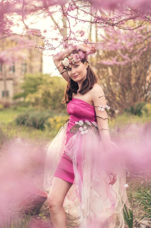 Dogwood Fairy Dress, Hot Pink Sz 4