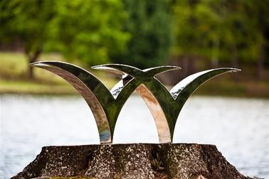 Welspun Logo Sculpture