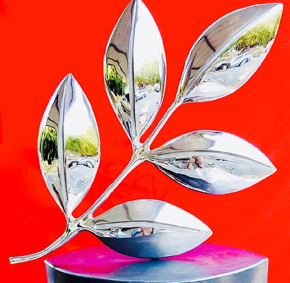 Cast Stainless Steel Nutrilite Logo Sculpture
