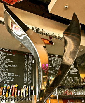 V Logo Sculpture for Venice Ale House