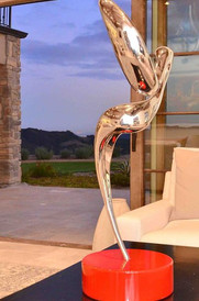 Cast Solid Stainless Steel Sculpture, Resurrection