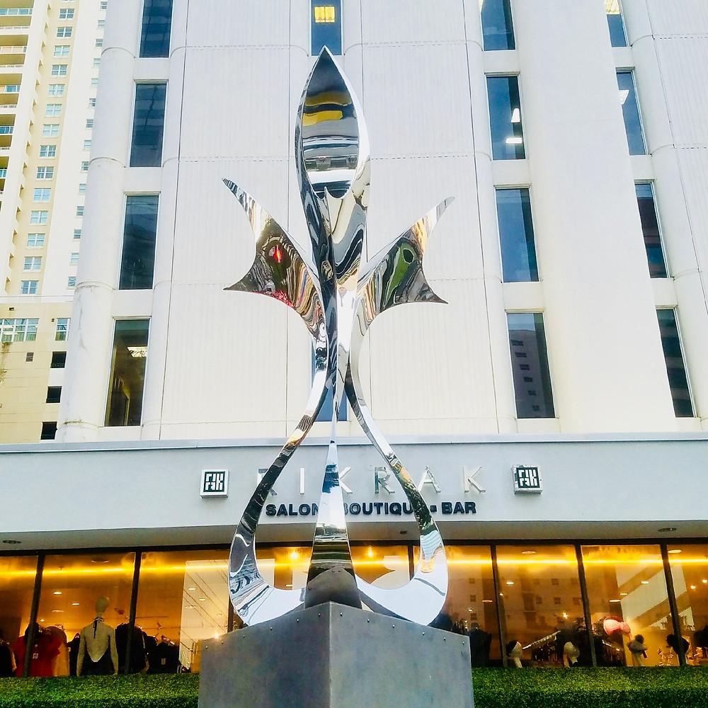 Ascension Sculpture at 1428 Brickell Avenue Miami Florida