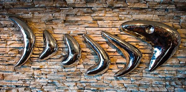 Fish Bones Sculpture