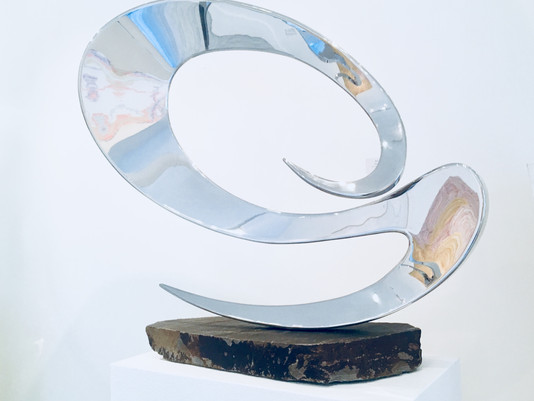"Last days of exhibit ""With Abstract Uncertainty"" at Bridgehampton, New York"