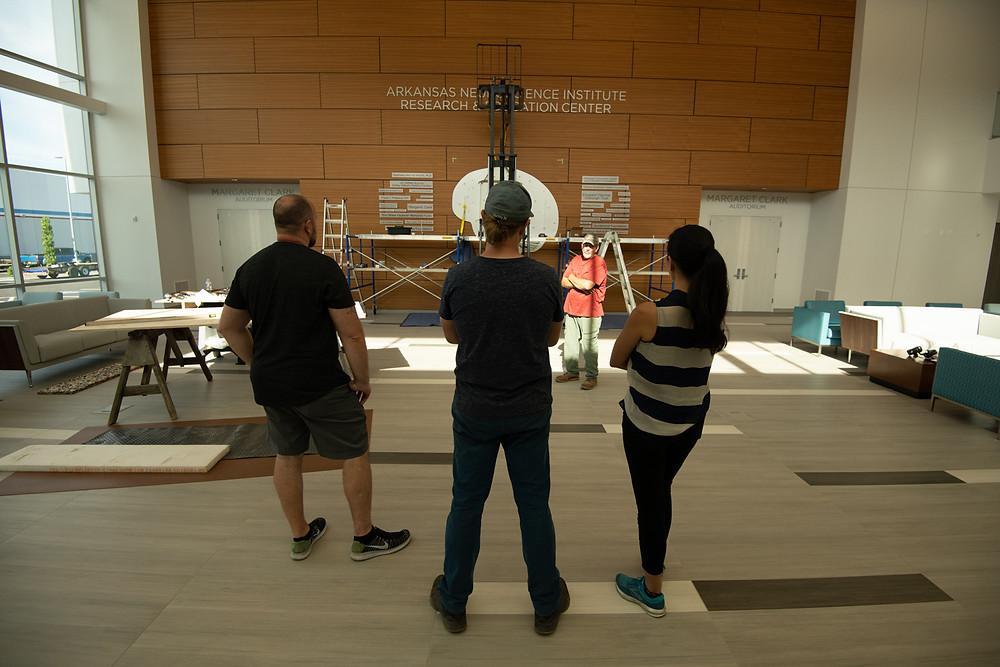 Ryan Schmidt's installation team