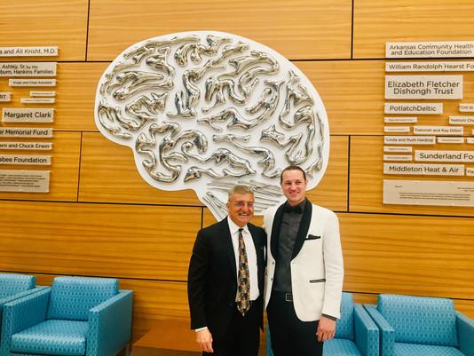 Installation of Brain Sculpture for Arkansas Neuroscience Institute