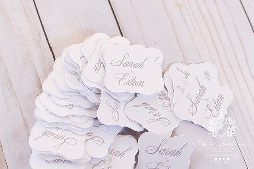 Thank You Tag, Wedding Favor Tag, Luggage Favor Tag ,SET OF 15 TAGS