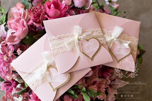 Quinceanera Invitation, Sweet Sixteen Quinceanera, Handmade, Vintage