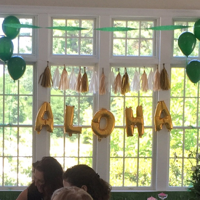 Gold Aloha Letter Balloons Set For Luau Decorations Hawaiian Party Decoration