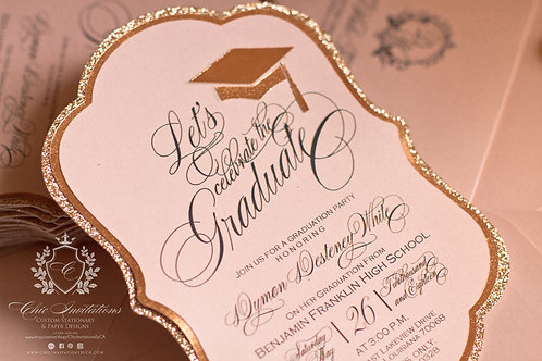 Graduation Invitation, Handmade Invitation, Sweet Sixteen Invitation