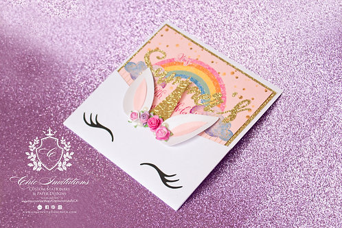 Unicorn Invitation, SET OF 25 INVITATIONS