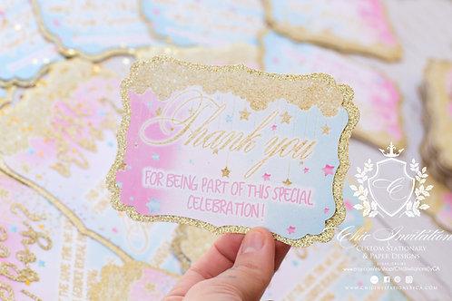 Custom thank you card, handmade card, thank you cards, customized as you like!