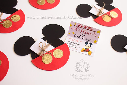 Mickey Invitation, Handmade Invitation