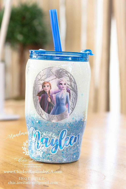 Frozen cup, handmade frozen 2 tumbler, tumbler for kids