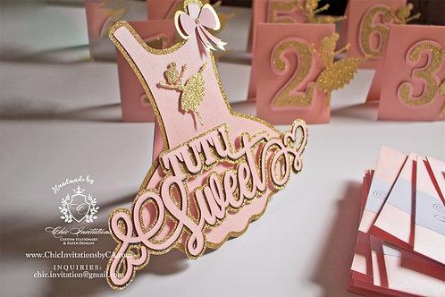Tutu paper decoration, ballerina sign, candy table ballerina, decorations
