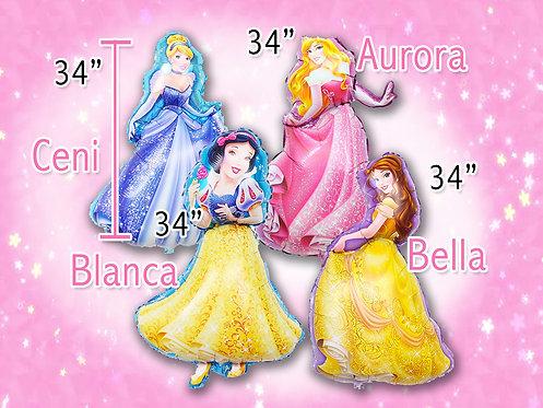 Princess balloon, party decorations, balloon party theme decoration,
