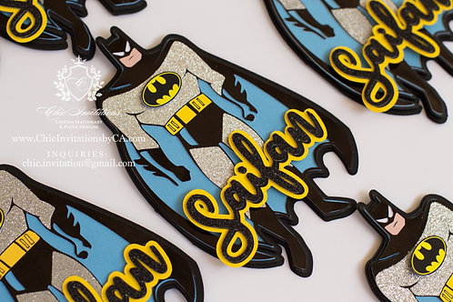 Batman Invitation, Handmade batman invite, 3D Invitation,