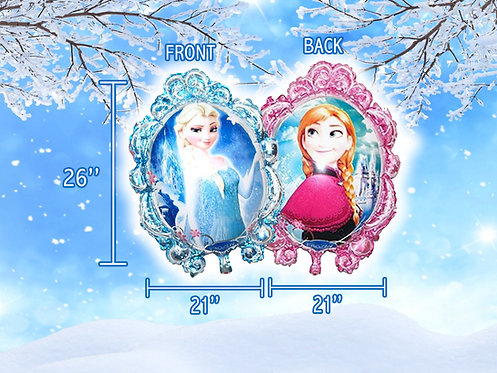Frozen balloon,  Princess Queen Anna, elsa Foil Inflatable Balloon, Party,