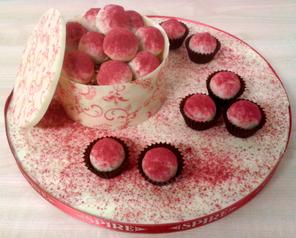 Raspberry Truffle Platter