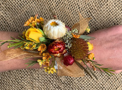 wrist corsage- fall theme