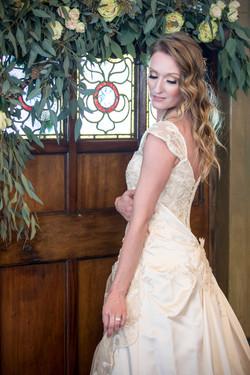 bride with garland