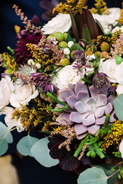 Fall bouquet with succulents