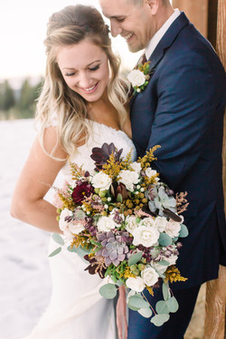 Fall wedding at Tamarack Resort