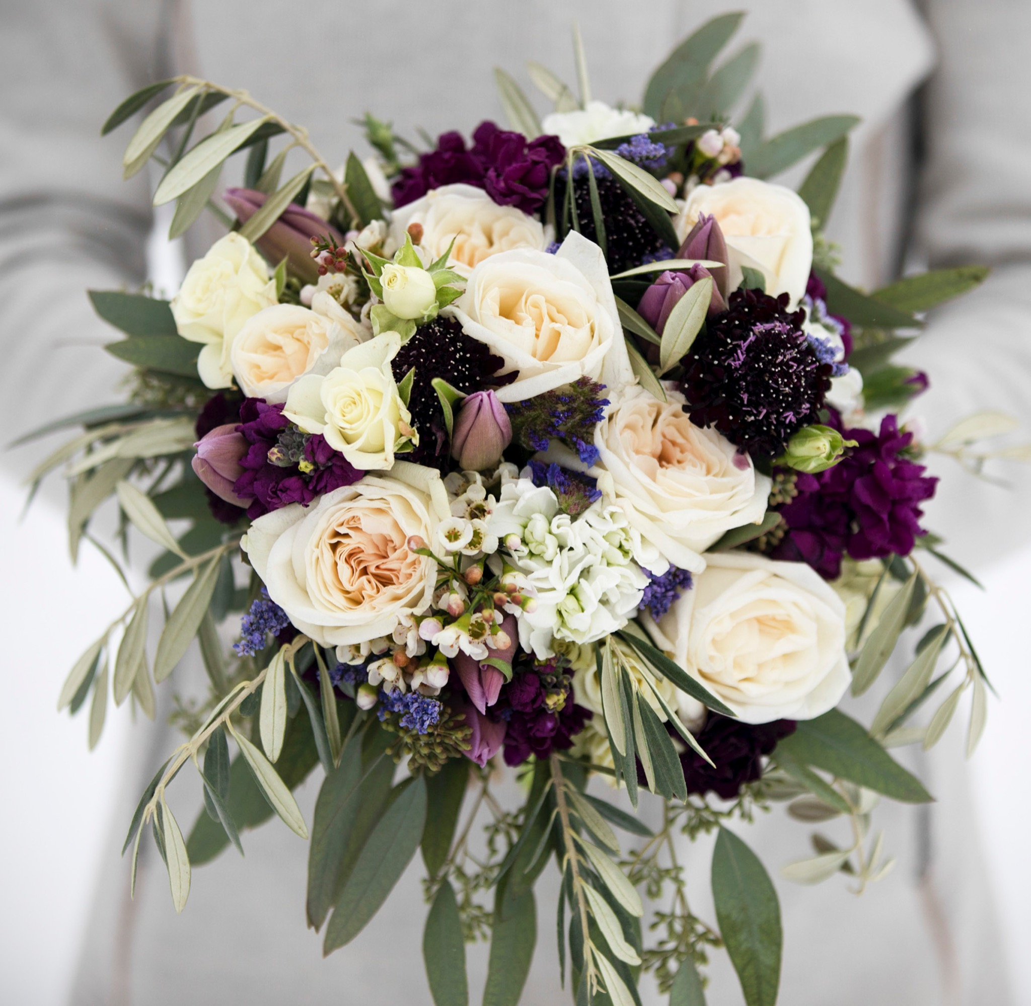 Bridal garden rose bouquet