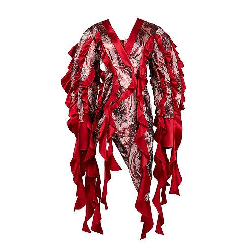 Japanese Geisha Silk Dress