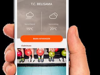 De tennisclub heeft een eigen app!