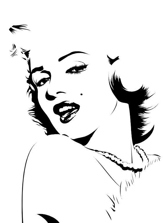 Marilyn Monroe Vinyl Decal 6 x 6 FREE SHIPPING by JPVinylDesign,