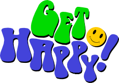 get happy text drop shadow