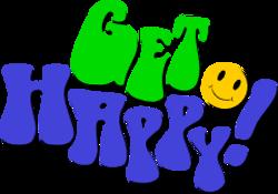 get happy text drop shadow
