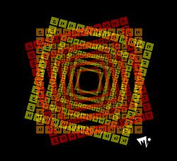 aztec squares repeating layered
