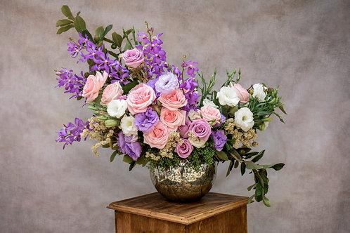 Lila,blanco y rosa con orquídeas moradas
