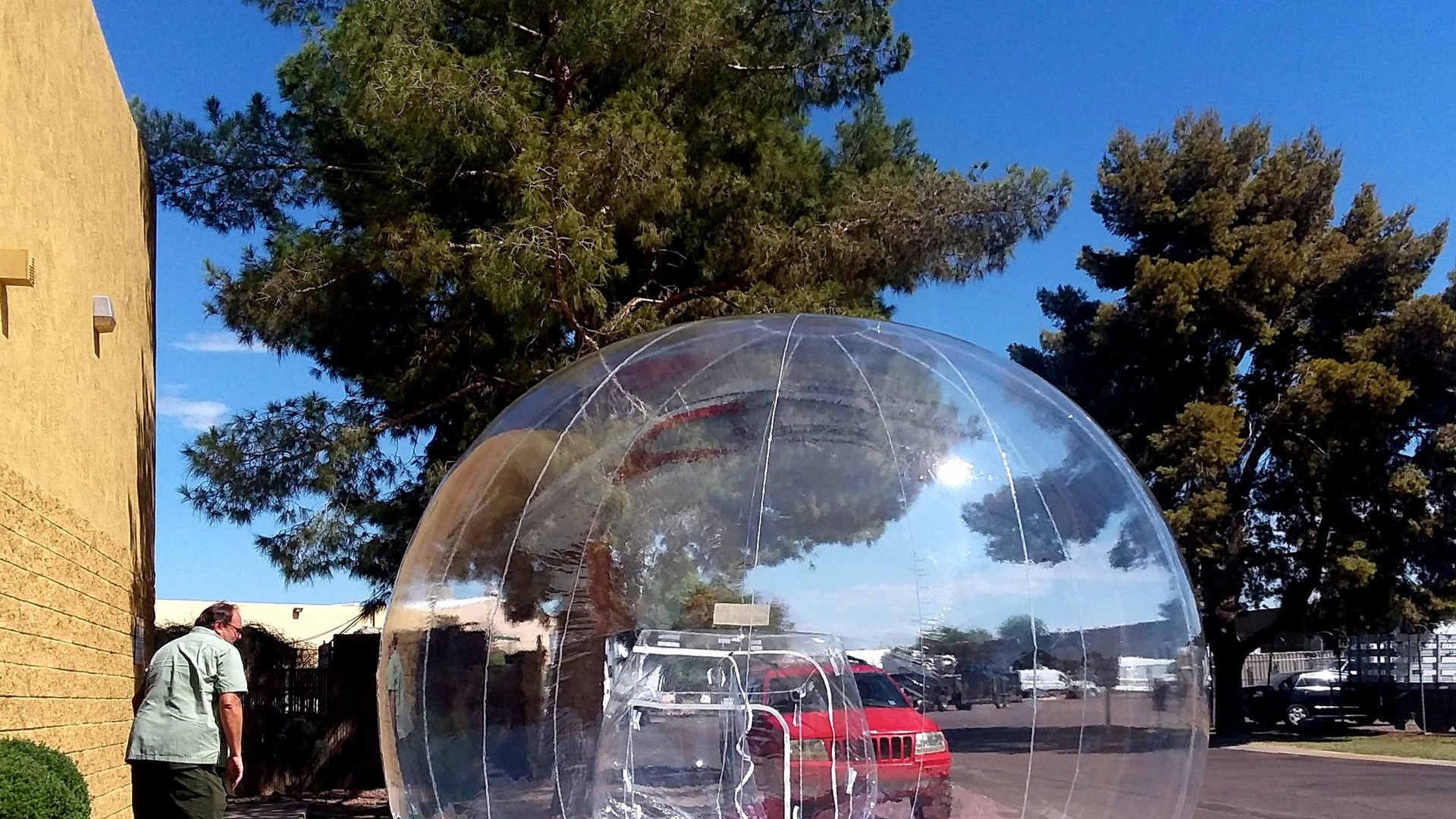Crystal Clear Inflatable Globes
